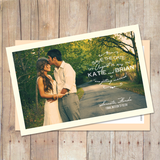 early morning save the date card vintage save the date