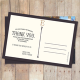 Floral Letter - Thank You Card