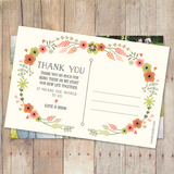 Floral Wreath - Thank You Card