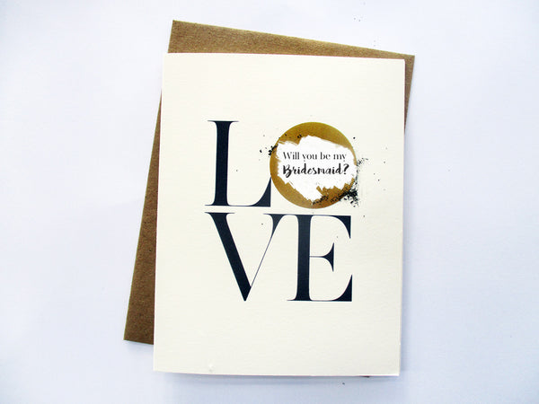 Scratch Off Will You Be My Bridesmaid Card - Love (GBM 04)