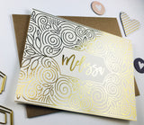 Personalized Gold Foil Will You Be My Bridesmaid Card - GBM-10