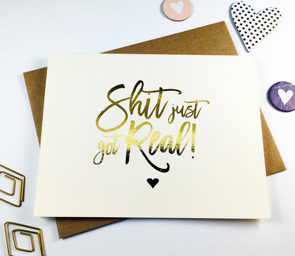 Gold Foil Bridesmaid Proposal Card - GBM-11
