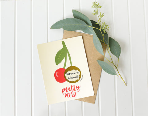Pretty Please Will You Be My Bridesmaid Card