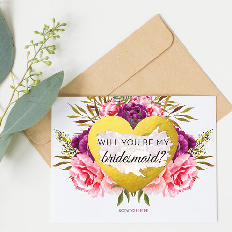 Scratch Off Will You Be My Bridesmaid Card GBM23