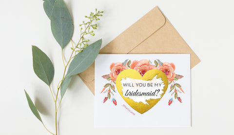 Scratch Off Will You Be My Bridesmaid Card GBM25