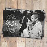 thank you postcard with script typography
