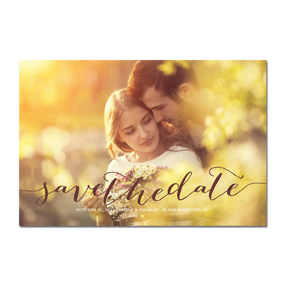Maple Save The Date Magnet