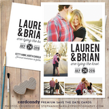 four photo save the date card