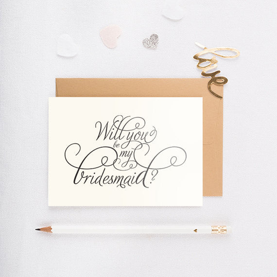 Script - Will You Be My Bridesmaid Card