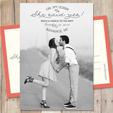 She Said Yes - Save The Date Card