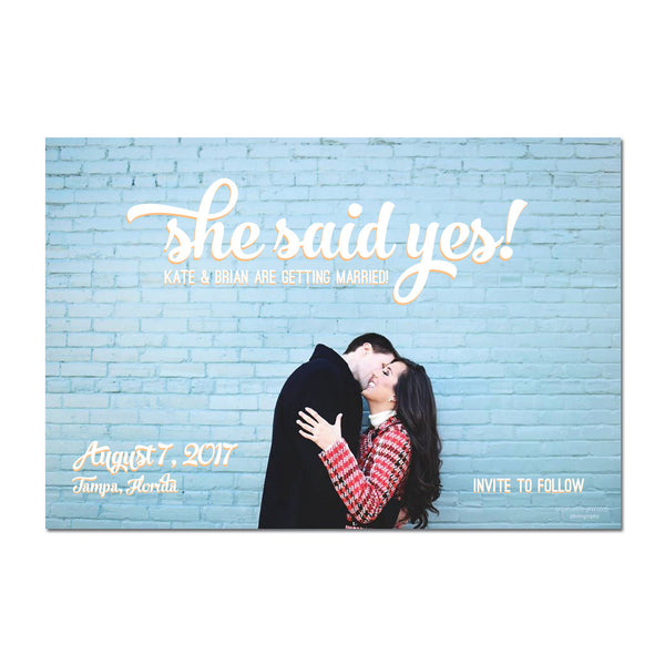 She Said Yes II Save The Date Magnet