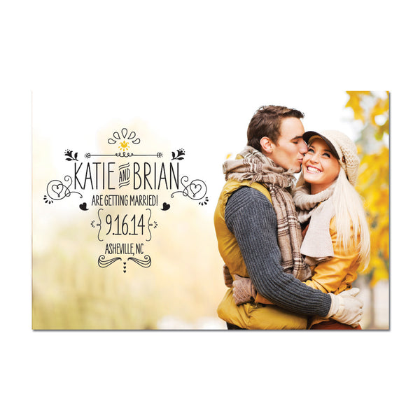 Sketch Save The Date Magnet