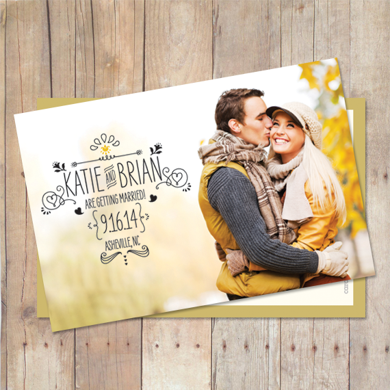 Sketchy - Save The Date Card