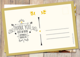 Sketchy - Thank You Card