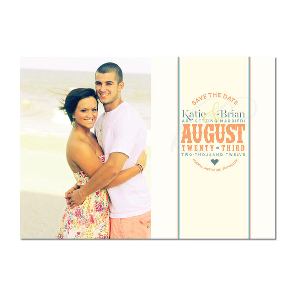 Springtime Save The Date Magnet