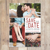 three photo save the date card or postcard