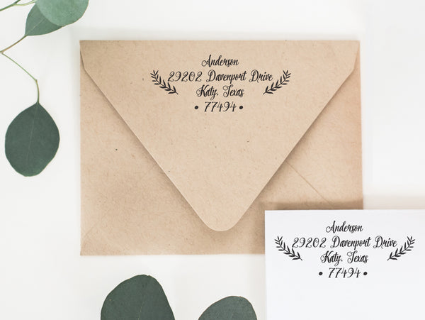 Self Inking Return Address Stamp - Laurel