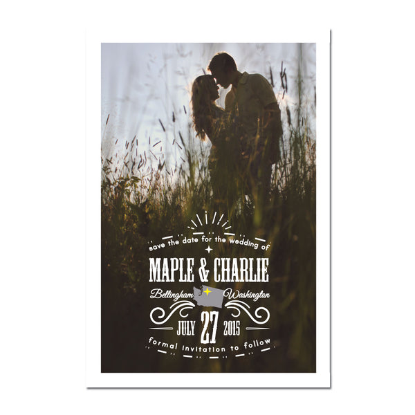 Starred Save The Date Magnet