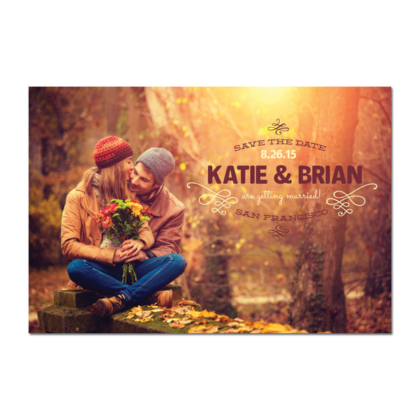 Sunset Save The Date Magnet