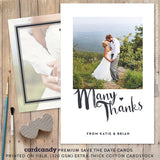 Minimal thank you card or thank you postcard