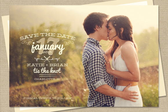 Thyme - Save The Date Card