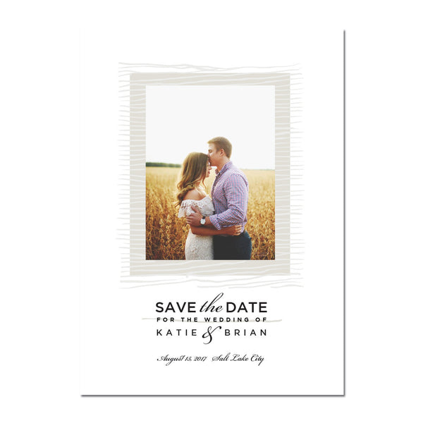 Topography Save The Date Magnet