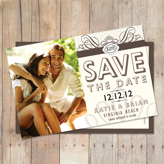 Vintage Class - Save The Date Card