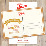 Vintage - Save The Date Card