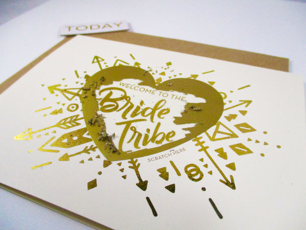 Gold Foil Bridesmaid Proposal Card - GBM-17
