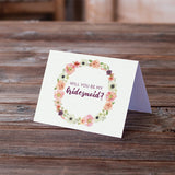 Wreath I - Will You Be My Bridesmaid Card
