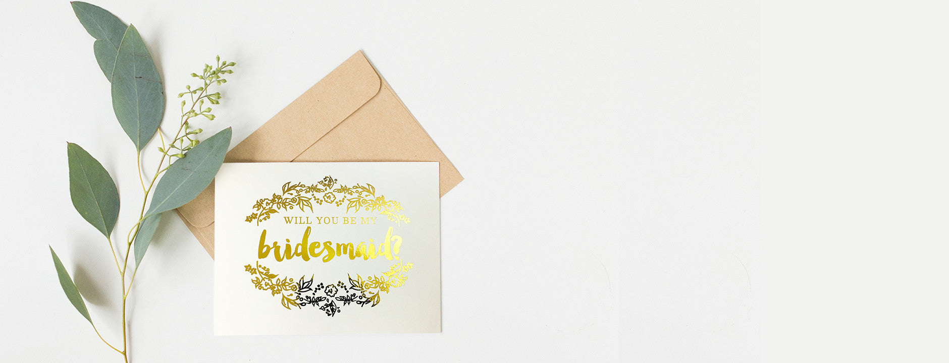 Real Gold Foil Bridesmaid Cards