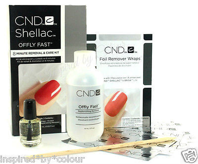 CND OFFLY FAST Removal & Care Kit ~ 8 Minute Removal for Shellac & Gel products
