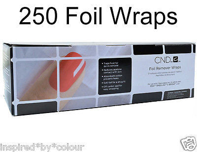 CND Shellac Foil Wraps~For removal of Shellac,BrisaLite,UVGel Polish,SoakOff Gel