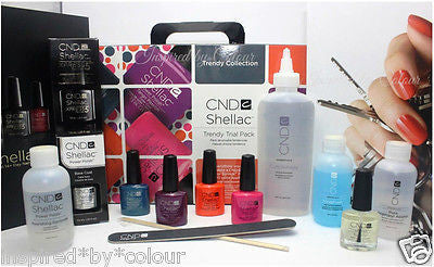 CND Shellac Gel Polish TRENDY Trial Pack Kit