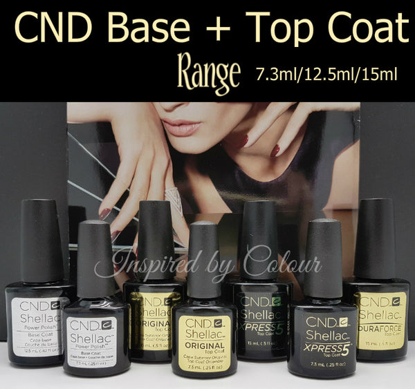 CND Shellac ●BASE COAT & TOP COAT RANGE ● 7.3ml/12.5ml/15ml