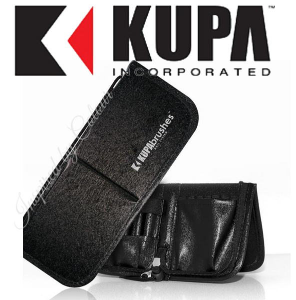 KUPA Brush & Tool Case / Wallet ● Stands easily on Nail Bench / Desktop ● Black, Red or White