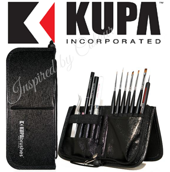 KUPA Handcrafted Kolinksky Brush Set ● Professional Nail System ● Case: -Black, Red or White