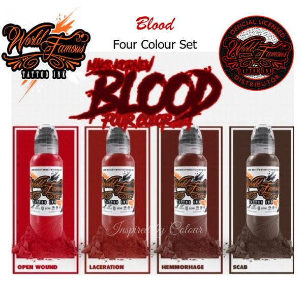 WORLD FAMOUS 4 x 30ml (1oz)  Bottle MAK'S Blood Set ● Owned by Kuro Sumi ● Authorised Australian Distributors