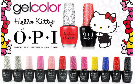 OPI GelColor Soak Off UV/LED Gel Polish ~ Colours from the HELLO KITTY COLLECTION.