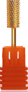 Gold Carbide Nail Drill Bit - C (3/32)