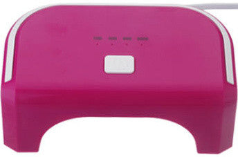 12W LED Magenta Lamp. Cures CND Shellac, Gelish Soak-Off Gel, OPI Gelcolor etc.