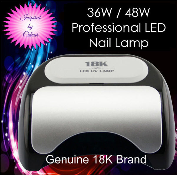 48W Black LED Lamp. Cures CND Shellac, Gelish Soak-Off gel, OPI Gelcolor etc.