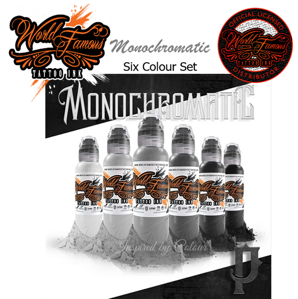 WORLD FAMOUS 6 x 30ml (1oz) Bottle Monochromatic Set ● Owned by Kuro Sumi ● Authorised Australian Distributors
