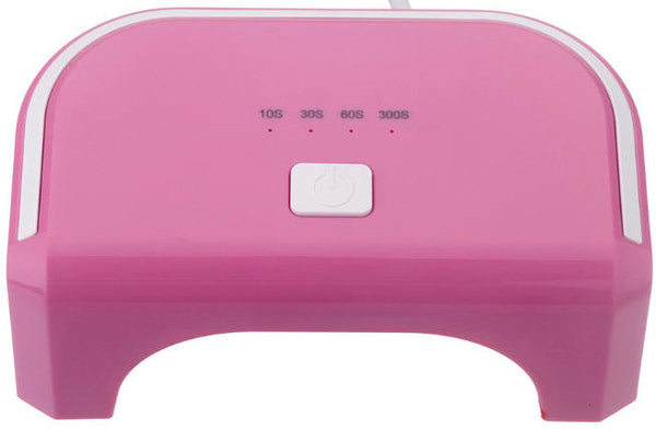 12W LED Pink Lamp. Cures CND Shellac, Gelish Soak-Off Gel, OPI Gelcolor etc.