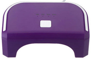 12W LED Purple Lamp. Cures CND Shellac, Gelish Soak-Off Gel, OPI Gelcolor etc.
