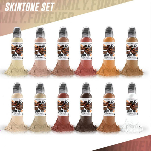 WORLD FAMOUS 12 x 30ml (1oz) Colour Skintone Set ● Owned by Kuro Sumi ● Authorised Australian Distributors