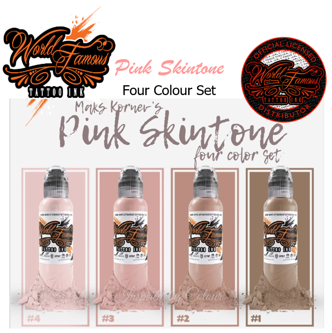 WORLD FAMOUS 4 x 30ml (1oz)  Bottle MAK'S Pink Skintone Set ● Owned by Kuro Sumi ● Authorised Australian Distributors