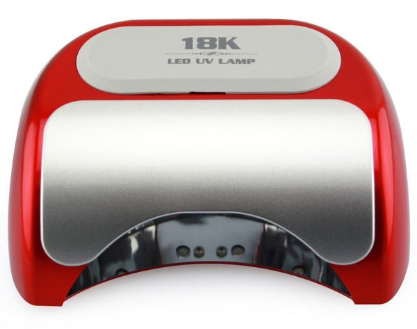 48W Red LED Lamp. Cures CND Shellac, Gelish Soak-Off gel, OPI Gelcolor etc.