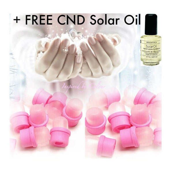 10 X Premium Quality Wearable Salon DIY Nail UV Gel Polish Remover Soaker Caps + FREE CND Solar Oil