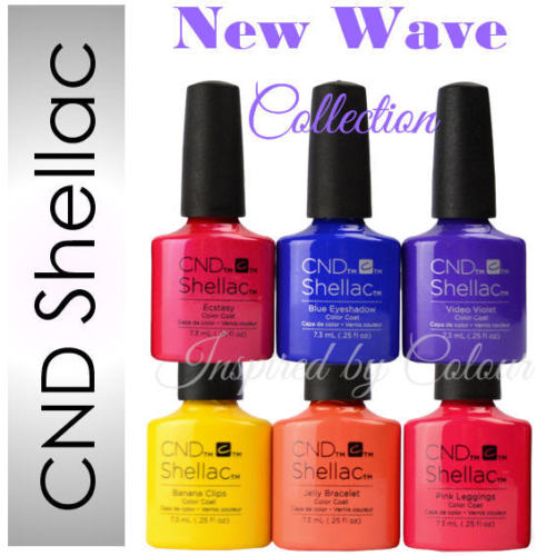 CND Shellac Power Polish Gel~Colours from NEW WAVE Collection